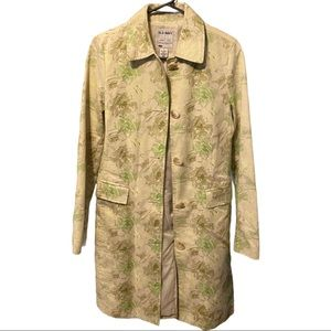 Old Navy Floral Trench Coat Size Small